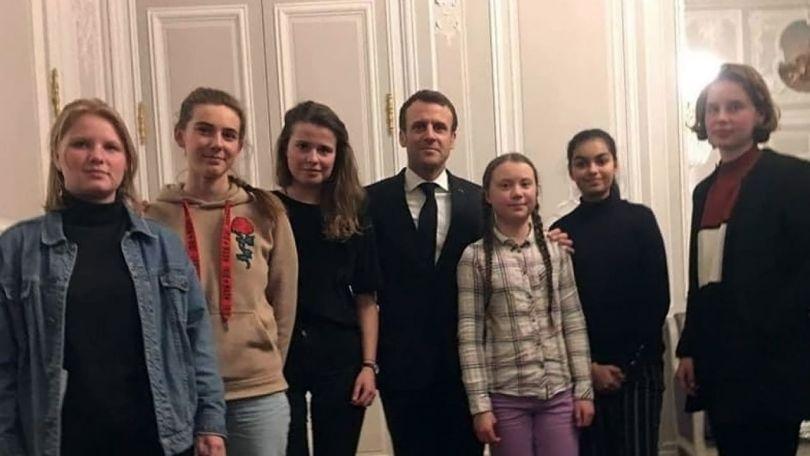 Greta Thunberg et Emmanuel Macron