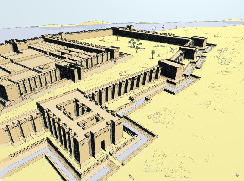 Reconstitution de la forteresse