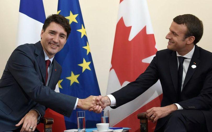 Justin Trudeau - Emmanuel Macron