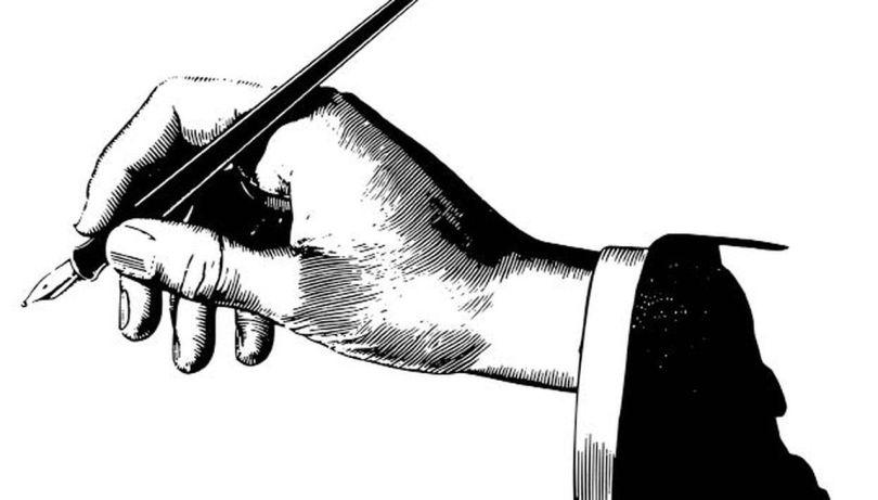 Main - stylo plume
