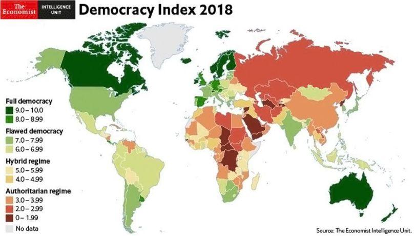 Démocratie - Monde - 2018