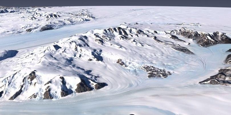 Glacier Byrd Antarctique