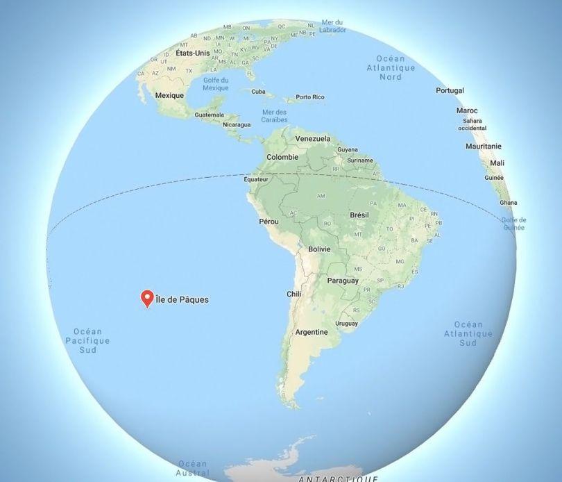 Ile de Pâques - Map