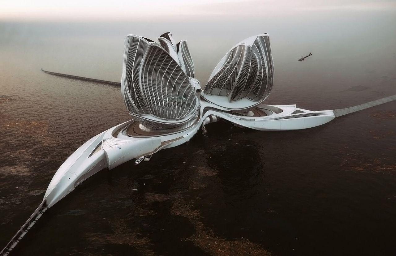 « Le 8e continent » : un concept de station flottante pour nettoyer les océans des déchets plastiques [Vidéos]