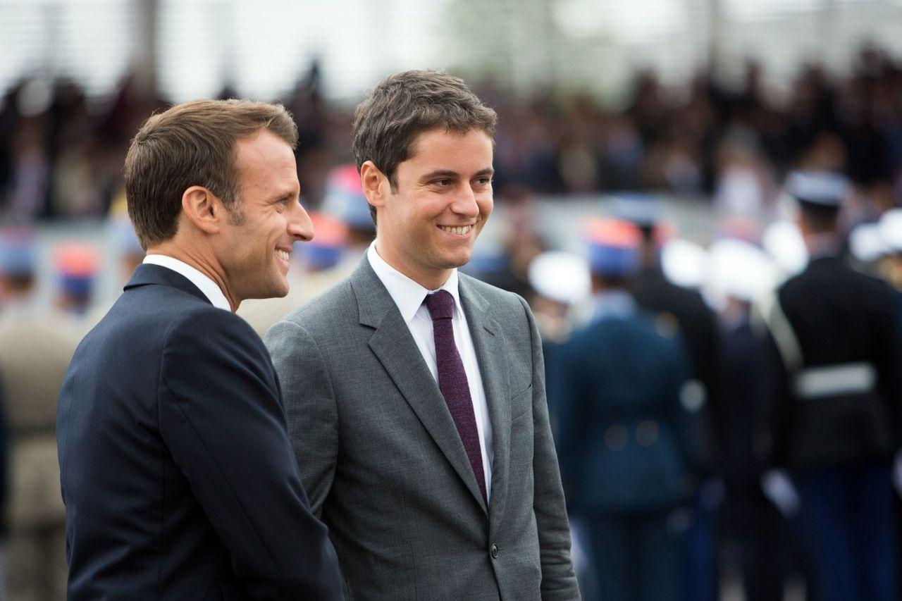 Emmanuel Macron et Gabriel Attal