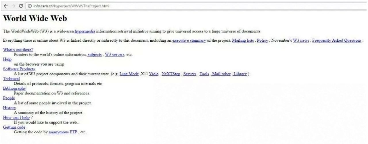 Première page Web
